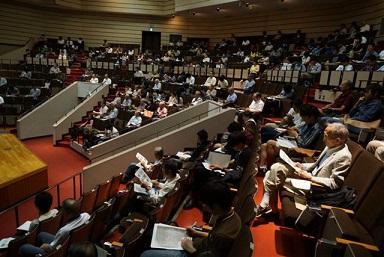 武田町長の講義を聴く聴講生