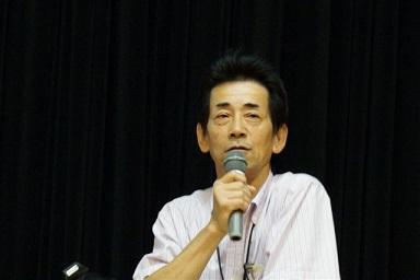 講義中の武田町長