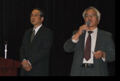 牧野忠廣講師と佐々木教授